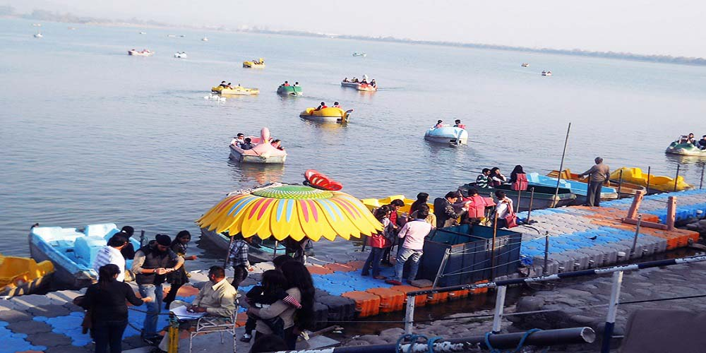 Boating in Sukhna Lake in Chandigarh